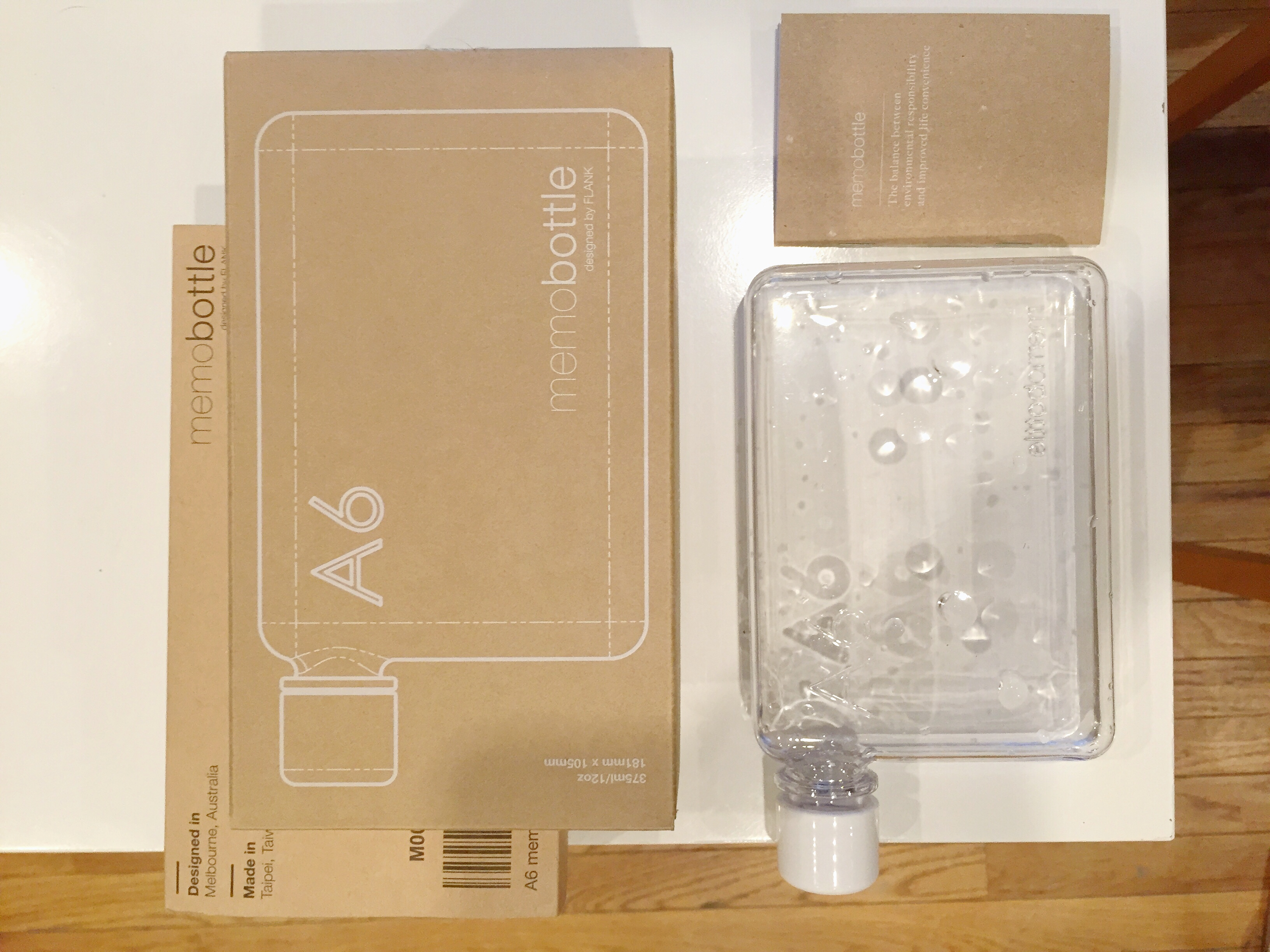 A6 memobottle package