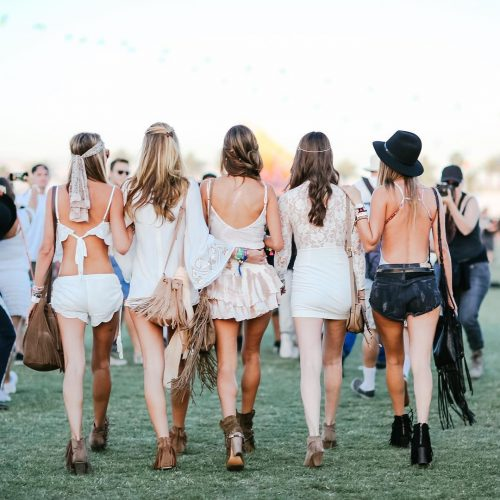 coachella boho style girls