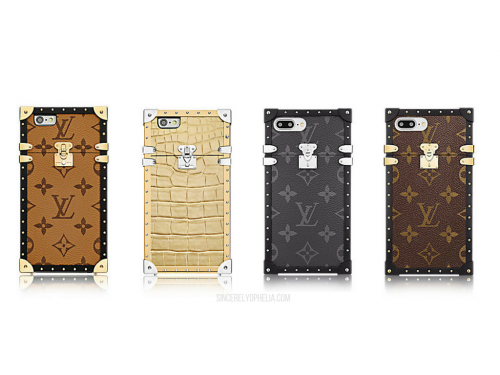 louis vuitton eye-trunk iphone case displays