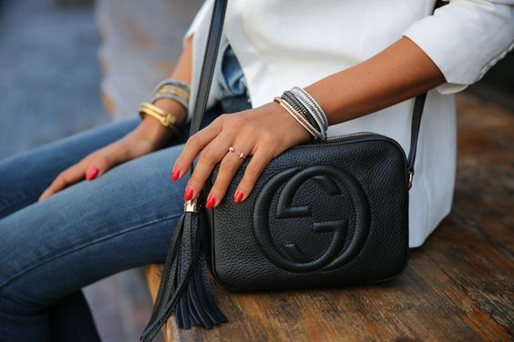 Gucci disco bag black