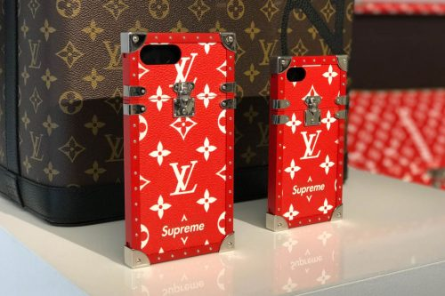 louis vuitton eye-trunk iphone case supreme collaboration