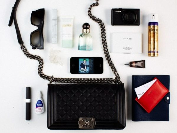 Chanel Boy Gun Metal essentials flatlay