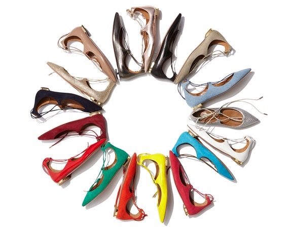 christy lace up flats color wheel