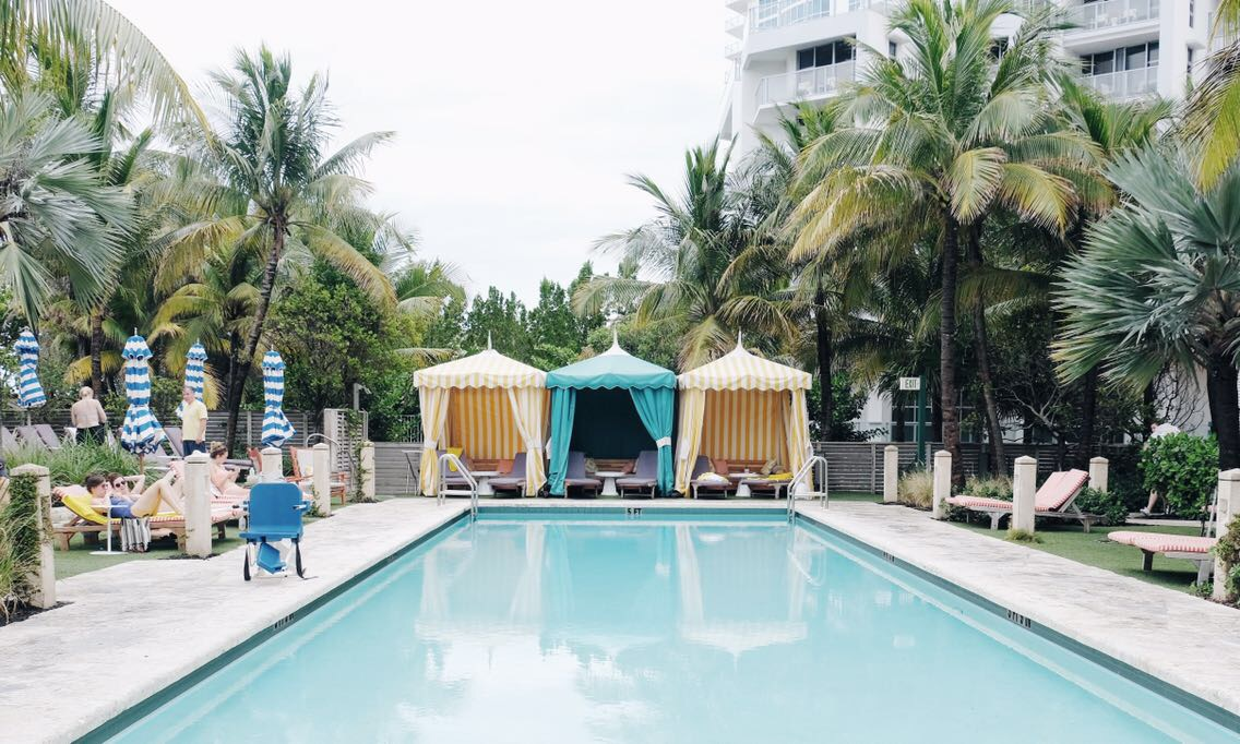 pool at confidante hotel
