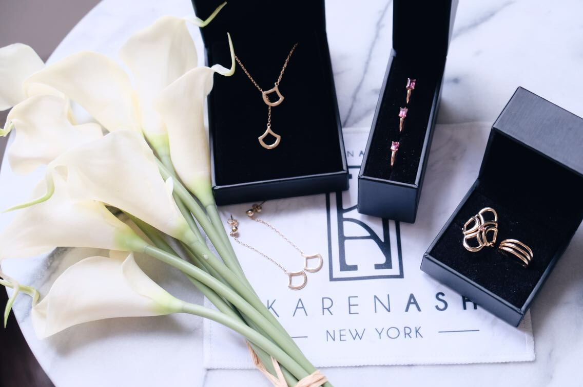 karenash jewelry for petites flat lay
