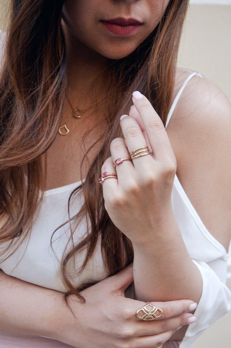 karenash ny petite jewelry pink tourmalines gold