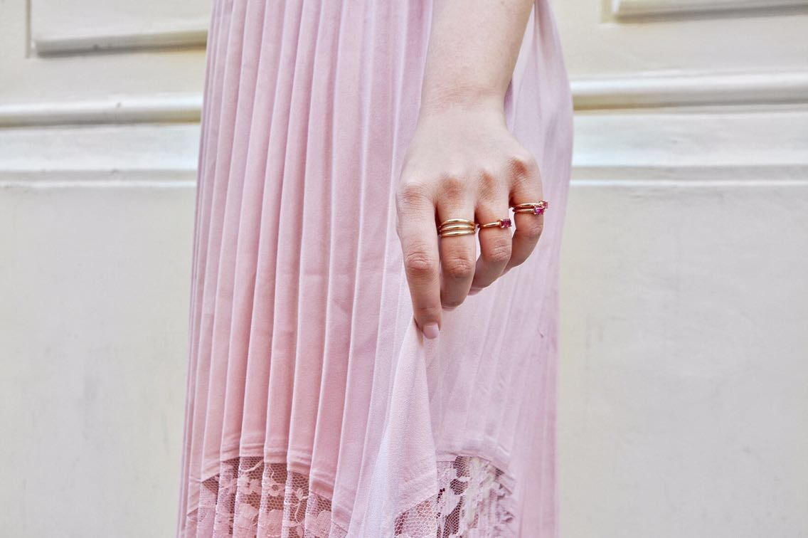 blush pleated skirt petite jewelry