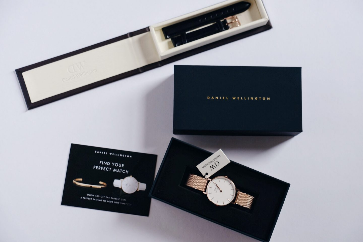 DW classic petite melrose and sheffield watch band