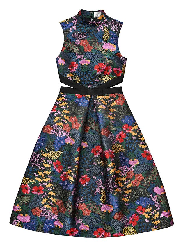 erdemxhm floral print cut out dress
