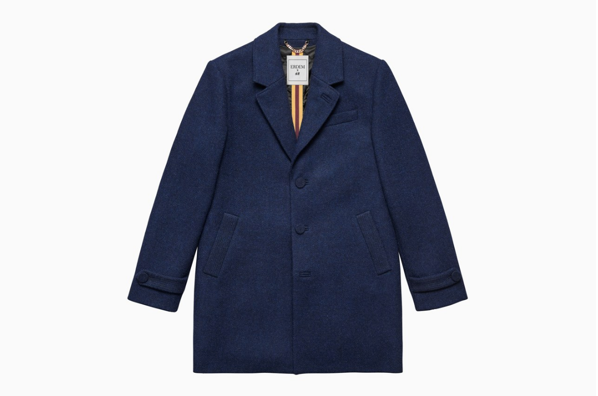 erdem x hm mens tweed wool coat