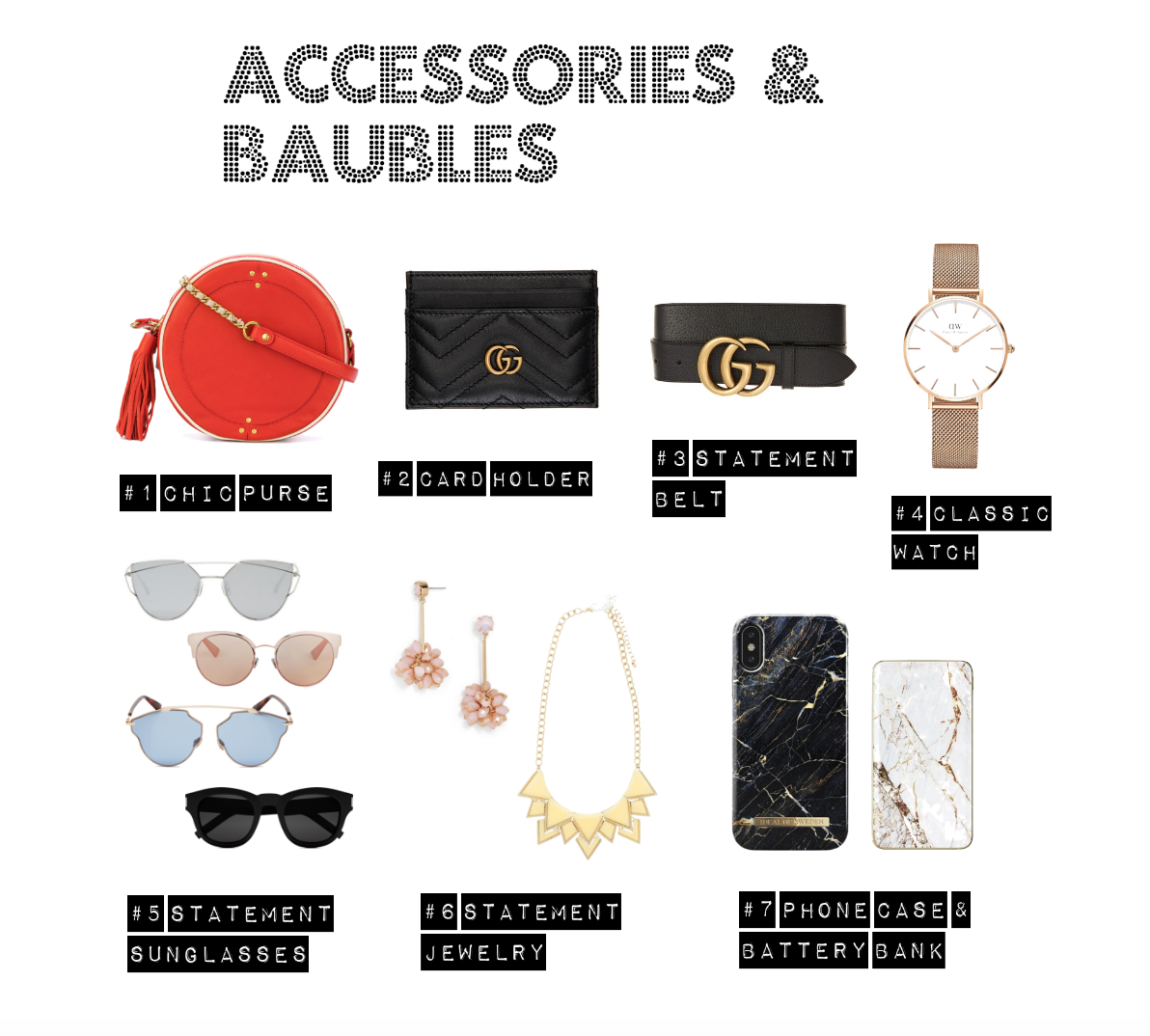 accessories & baubles christmas gift list