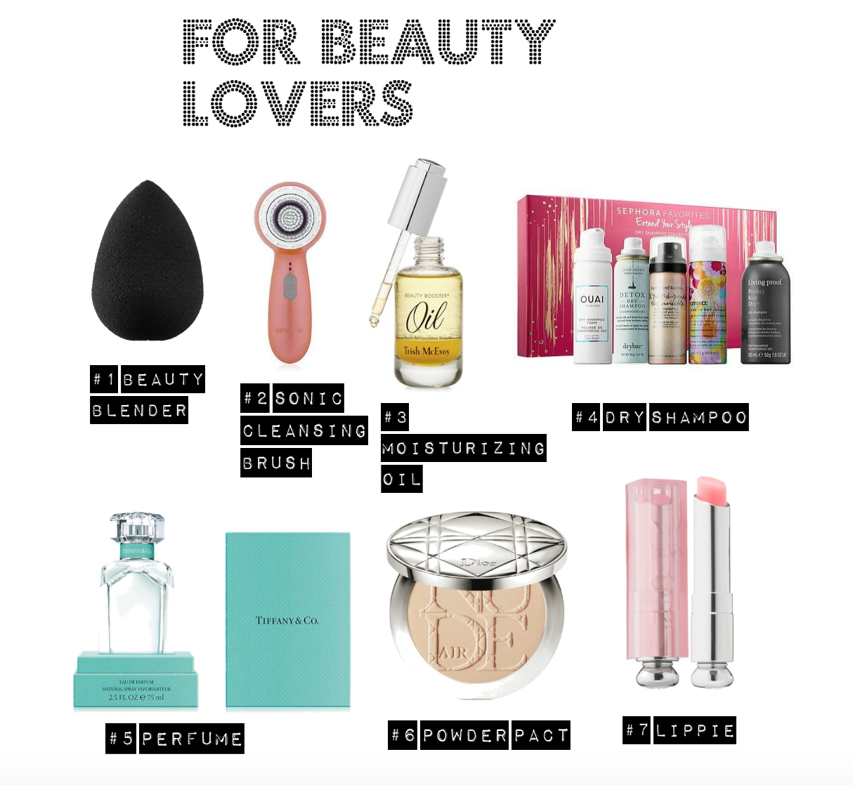 beauty lovers christmas gift list
