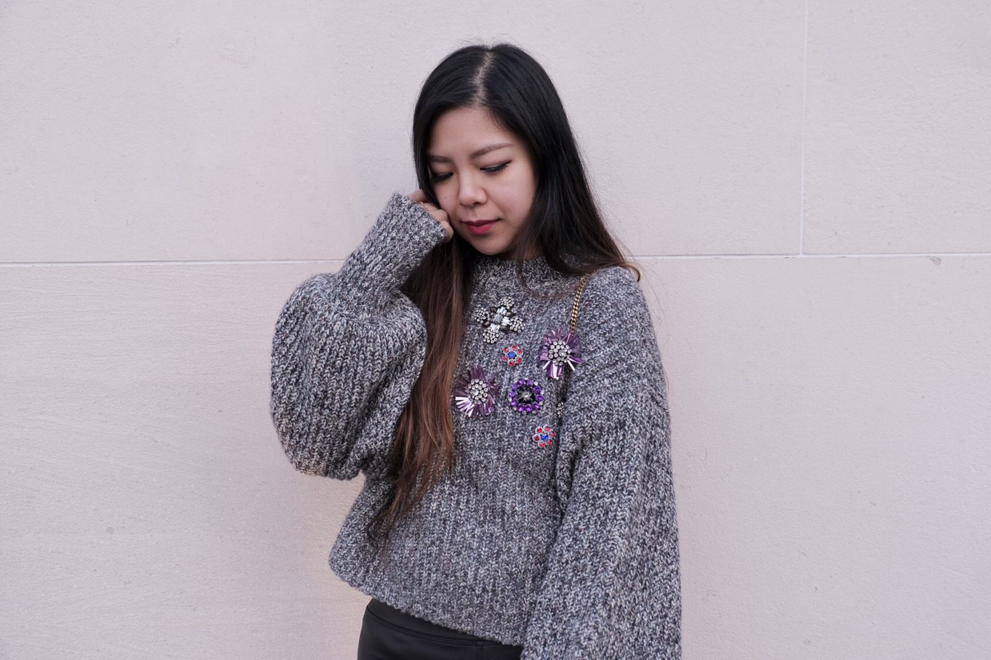 applique sweater