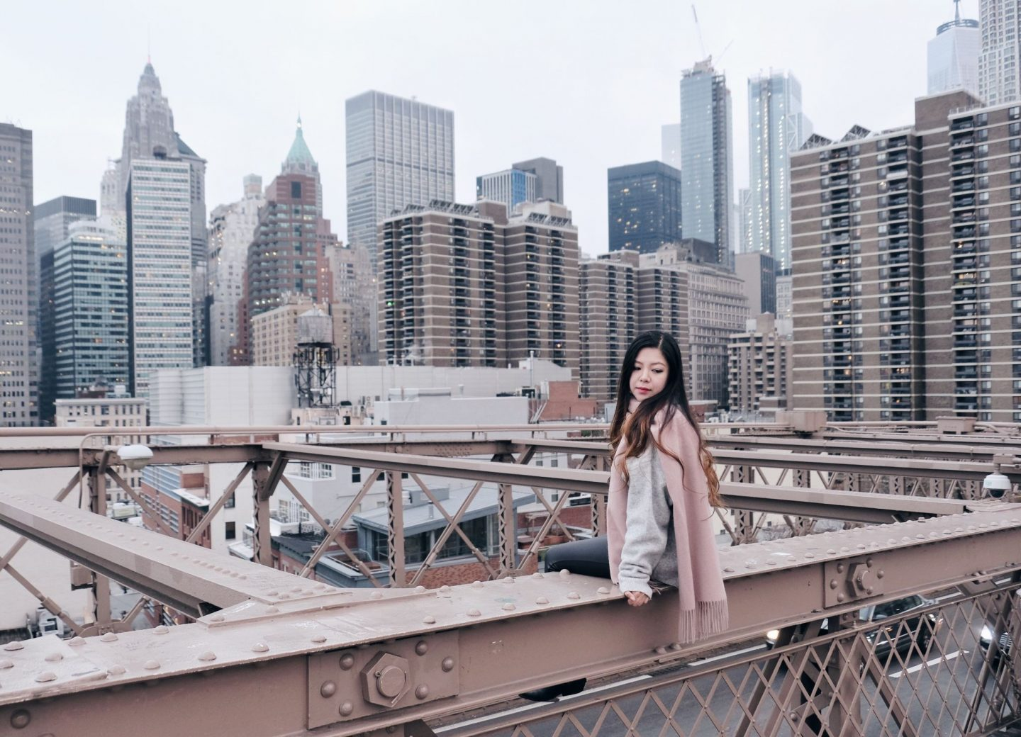 nyc brooklyn bridge blogger babe city scapes