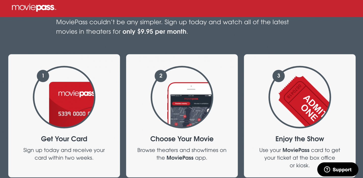 moviepass website screen shot