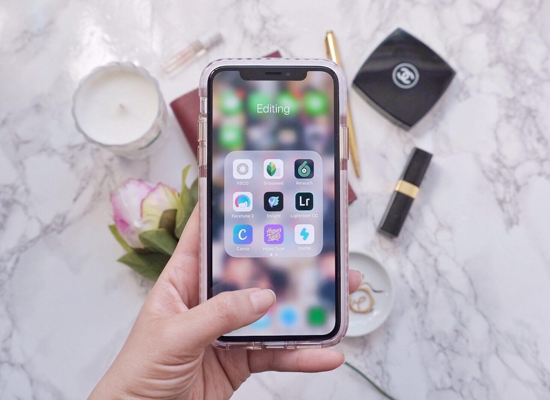 iphone x blogger editing
