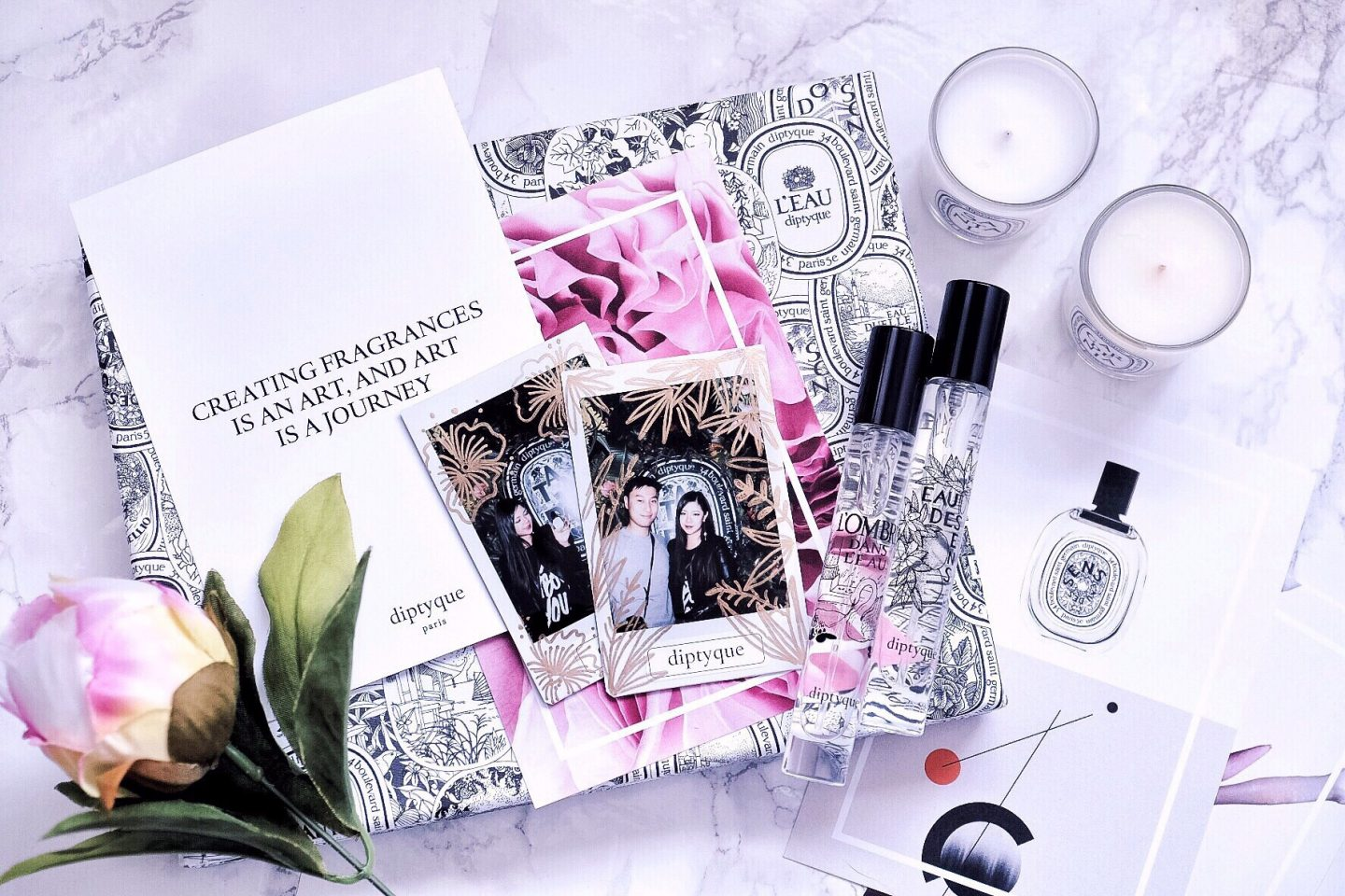 diptyque flatlay soho pop up