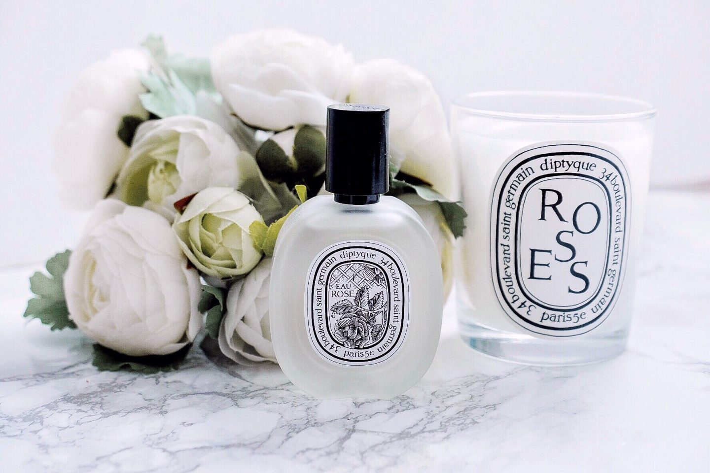 diptyque rose hair mist candle
